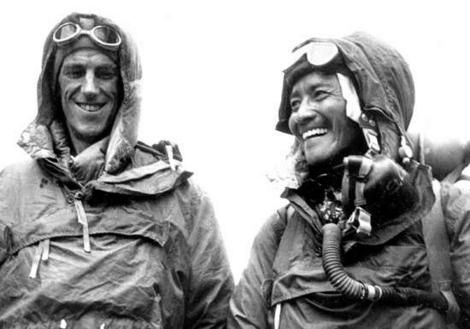 Sir Edmund Hillary and Tenzing Norgay.